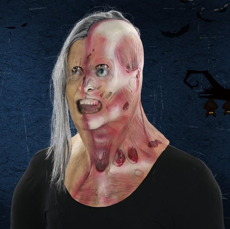Realistic Scary Halloween Masks.Halloween Realistic Horror Latex Mask Scary Zombie Mask Custom